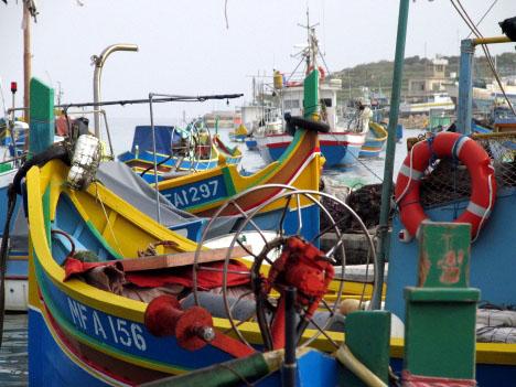 im Hafen von Marsaxlokk