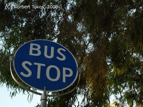 Eine Bushaltestelle