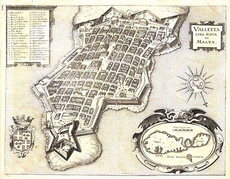 Valletta, Kupferstich, ca. 1680