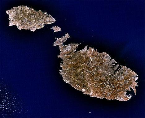 Malta aus dem All