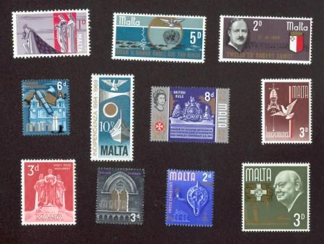 Briefmarken aus Malta