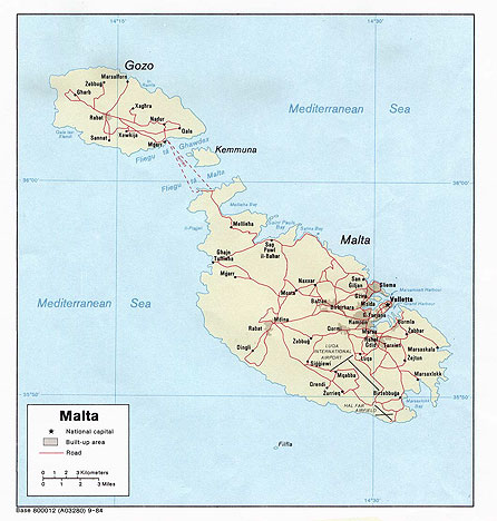 Haupfverkehrswege Malta