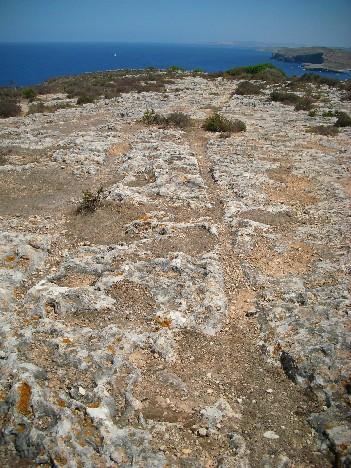 Schleifspuren auf Gozo