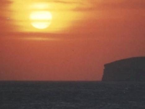 Sonnenuntergang vor Gozo