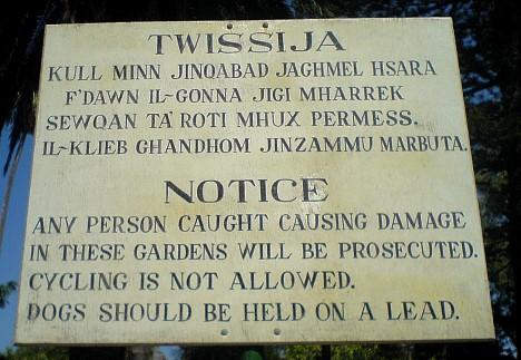 Twissija - Warnung
