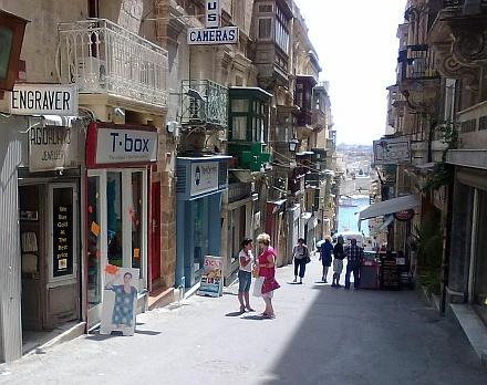 Valetta Straße zum Hafen