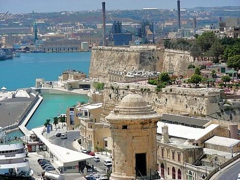 Blick von Valletta in den Grand Harbour